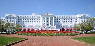 The amazing front view of The Greenbrier
